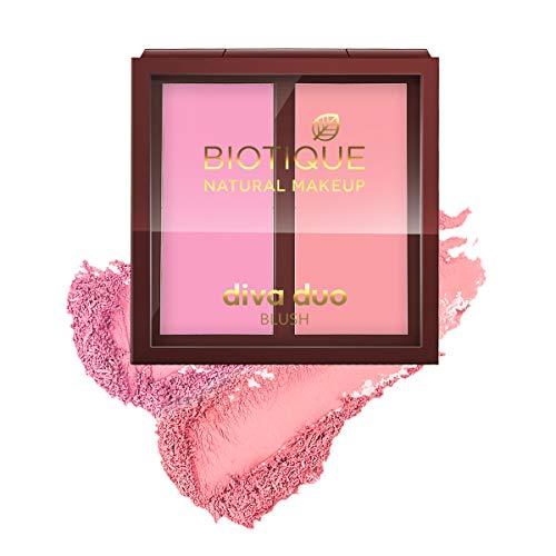 Biotique Natural Makeup Diva Duo Blush, Sassy N Spicy, 9g