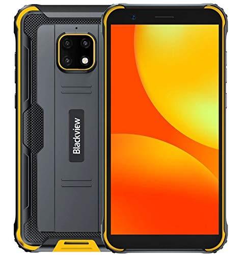 IP68 Rugged Smartphone 4G, Blackview BV4900 Android 10 Cellulare Robusto, 3GB RAM 32GB ROM Espansione da 256 GB, Fotocamera Impermeabile 5 MP + 8 MP, Doppia SIM GPS NFC, Batteria da 5580 mAh Giallo