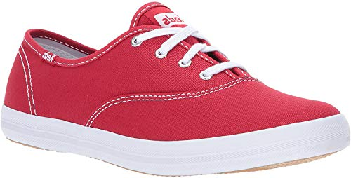 Keds Women's Champion Original Canvas Lace-Up Sneaker, Red, 9.5 M US