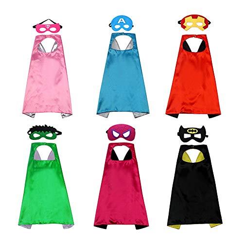 Juguetes de superhéroes para niños, capas de superhéroes para niños pequeños, disfraces de superhéroes para niños, capas y máscaras de superhéroes para niños, conjunto de disfraces del cabo