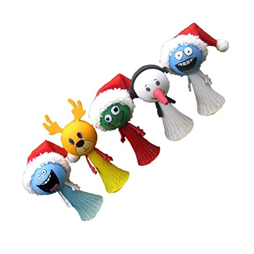 Gadpiparty 5pcs Christmas Finger Puppets Reindeer Snowman Bounce Balls Toys Christmas Stocking Stuffers for Christmas Party Favors