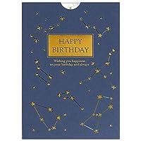 バースデーカード レーザー箔カード 星 B38-294 学研ステイフル スター グリーティングカード Birthday Card お誕生お祝い