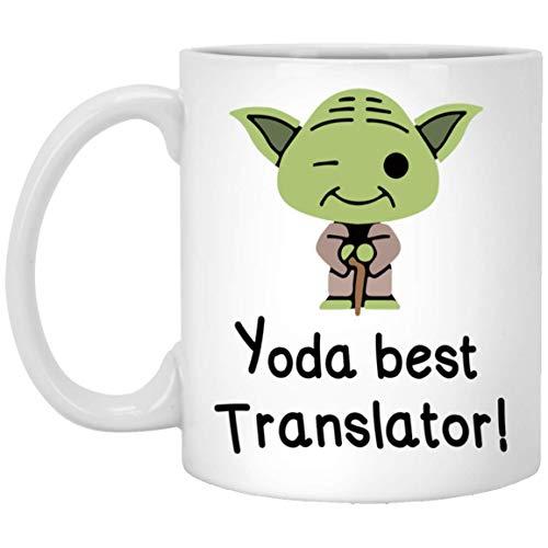 Translator Mug - Yoda Best Translator Gift - Gifts for Translator - Yoda Collectors - Yoda Best Translator Pun Mug