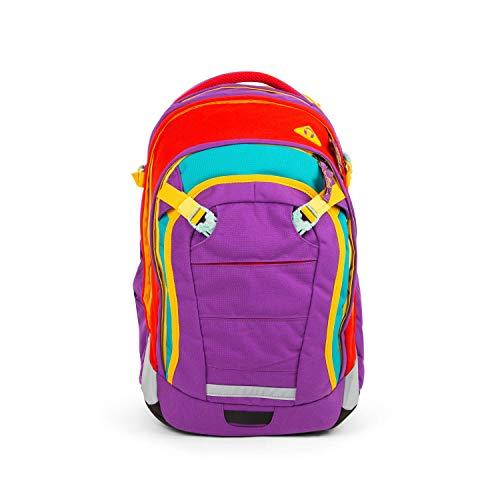 satch Match, Flash Runner ergonomischer Schulrucksack, erweiterbar auf 35 Liter, extra Fronttasche