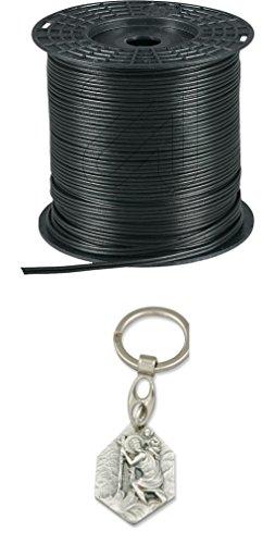 EKU Kabel 100 Meter Zwillingsleitung 2x2,5² schwarz 30720/30725 mit Anhänger Hlg. Christophorus