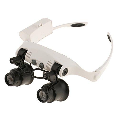 Lupenbrille mit Lupe 10x 15x 20x 25x LED Handfrei Brillenlupe für Hobby, Elektriker, Juweliere, Nähen, Handwerk, Kosmetik, Makeup, Tattoo und ältere Menschen