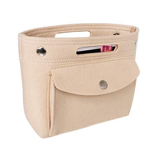 Taschenorganizer Filz, Mini Taschen Organizer, Innentaschen für Handtaschen mit Griffen, Handtaschen Organizer Bag in Bag