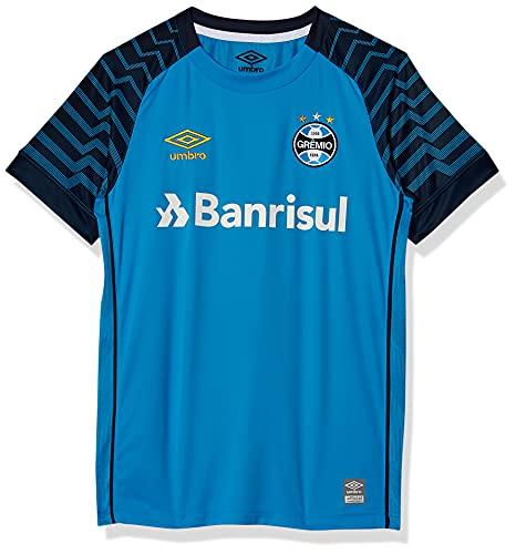 Camisa Goleiro Gremio Oficial 2021, Umbro, Junior, Azul/Marinho, 12
