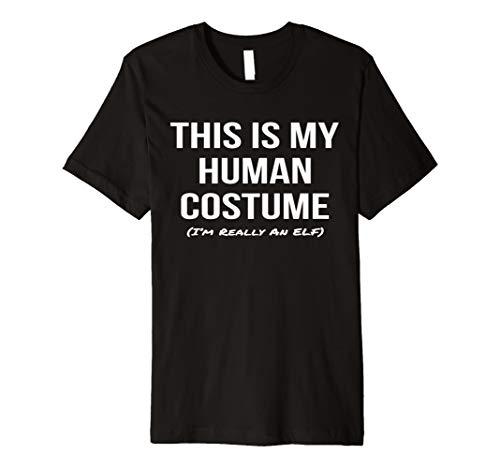 Human Costume Elf Shirt Mythology Cosplay Halloween Tee