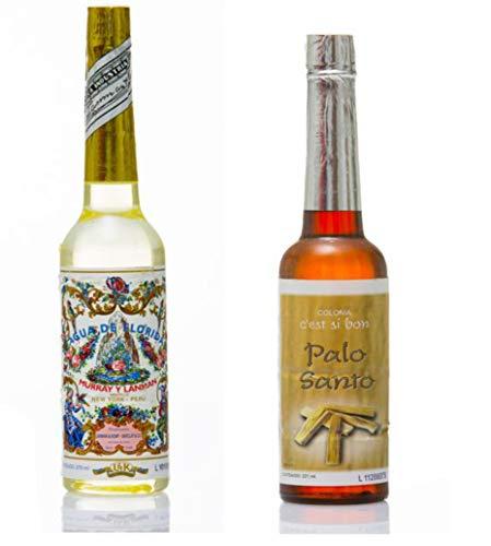 Agua de Florida 2 en 1, 270 ml, Colonia Palo Santo 211 ml, original de Perú, actúa como...