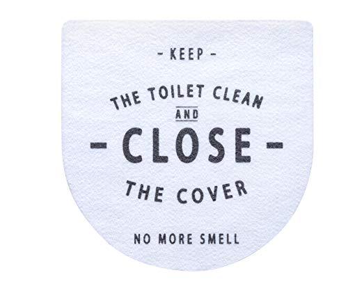 ベストコ(Bestco) トイレのフタに貼る 消臭シート ホワイト 1枚 簡単 おしゃれ インテリア 日本製 MA-2301