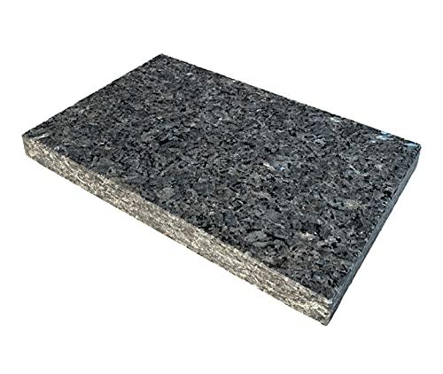 Naturstein Labrador Blue Pearl 4cm Granit Entkopplungsplatte Lautsprecherplatte Pizzabackstein Absorber (45x40x4cm)