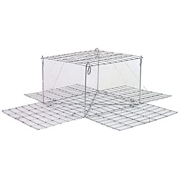 """4 CRAB TRAP BOX TYPE SNAP TRAP 10.5/"""" X 10.5 X 6/"""" NO ASSEMBLY 225-CT COLLAPSIBLE"""
