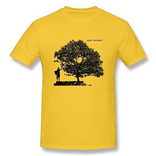 Welikee T-Shirt, Herren-Kurzarmshirt, Men's Jack Johnson in Between Dreams Cotton T Shirts Yellow