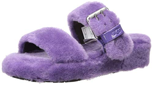 UGG Women's Fuzz Yeah Wedge Sandal, Violet Bloom, 6 M US