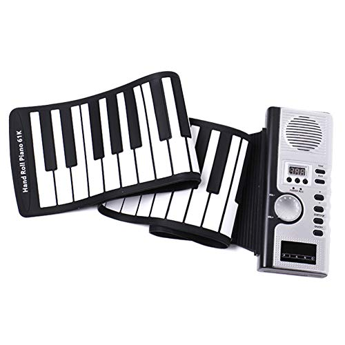 Fanville Keys Roll-Up-piano, draagbare elektronische handroller, flexibel roll-up-toetsenbord, siliconen piano 61 sleutels