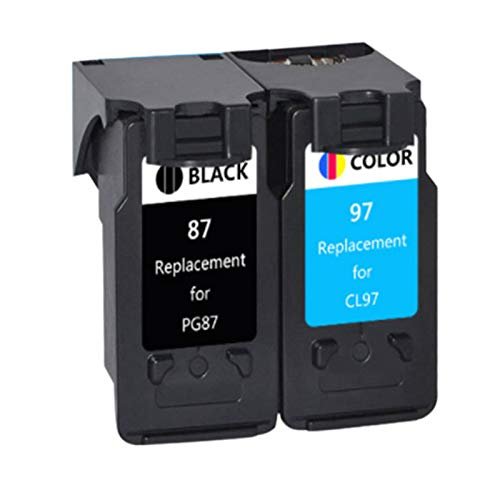 87XL 97XL - Cartucho de tinta para impresora Canon E568 R568, paquete de 2 (1 negro, 1 tricolor)