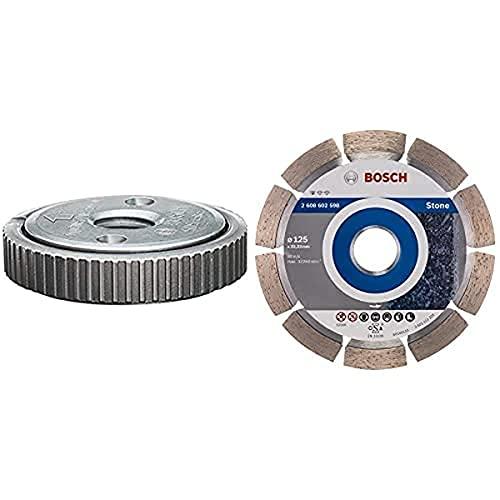 Bosch Professional Tuerca de apriete rápido SDS click M14 (grosor: 14 mm, accesorio para amoladoras) + Disco de diamante Standard for Stone