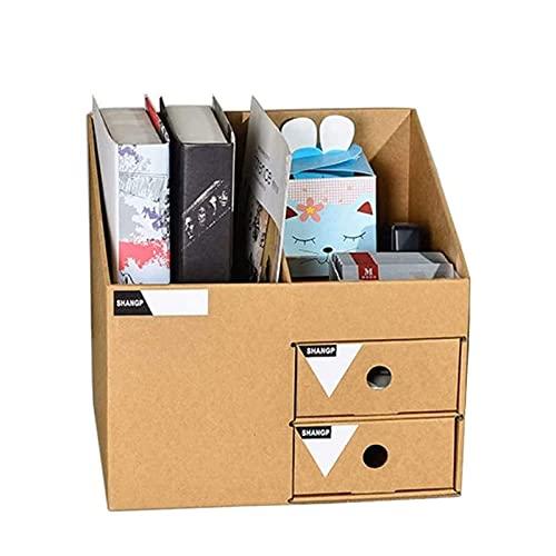 ZXNRTU Ahorro de Espacio Caja de Archivos Organizador de Almacenamiento Simple Desktop Caja de Almacenamiento Cajón Estante de Archivo