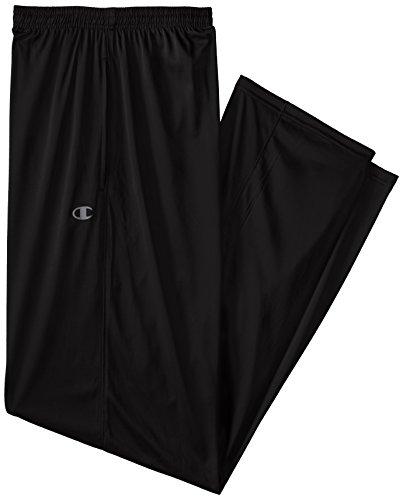 Champion Men's Big-Tall Powertrain Solid Pant, Black, 2X/Tall
