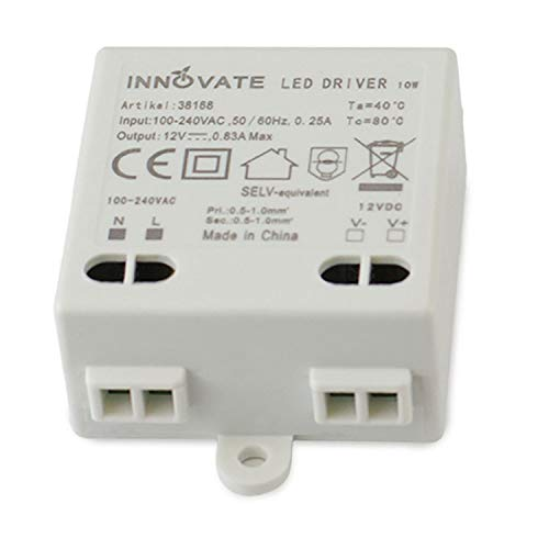 Innovate LED Trafo Mini 12V/DC, 0-10W - Mini Transformator Netzteil Driver (1)