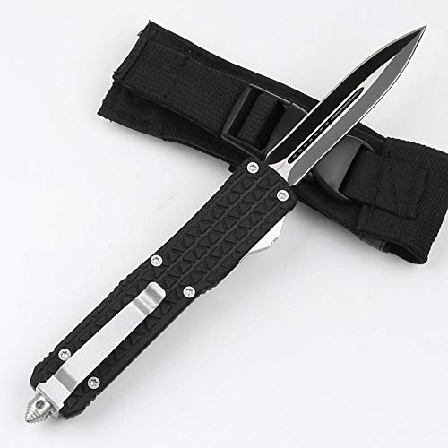 Large Size Model Double Action Knives Outdoor Tactical Knife Blade Black Hunting Knife