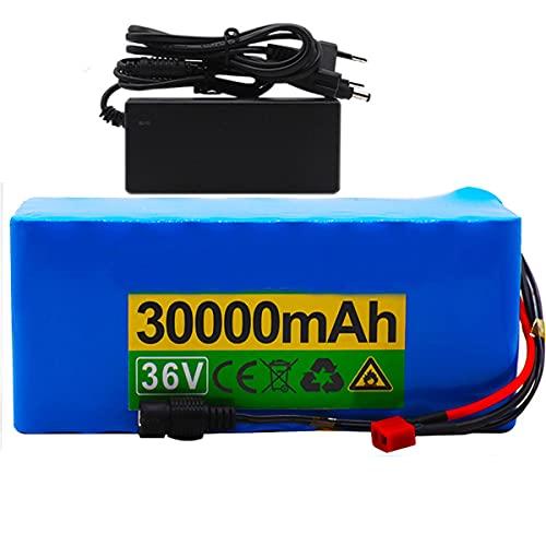 HJGHY Batería 36V 10S4P 30Ah batería 500W batería de Alta Potencia Ebike...