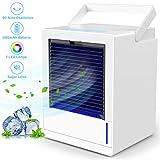 Mobile Klimageräte mini, infray mobile Klimaanlage, Verdunstungskühler mit 5000mAh Akku, 7 Farben...