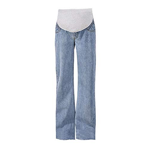 Xiedeai Ropa Premamá Vaqueros para Mujeres - Damas Maternidad Jeans sobre la Protuberancia Pantalones Ajustable Pretina Vaqueros Pantalones Casual