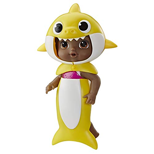 Baby Alive, Baby Shark Black Hair Doll, with Tail and Hood, Inspired by Hit Song and Dance, Waterplay Toy for Kids Ages 3 Years Old and Up