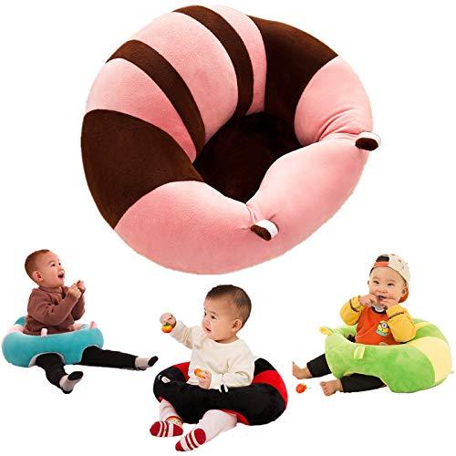 Asiento De Aprendizaje Para Bebés Juguete Felpa Seguridad Comer Silla Comedor Educación Infantil Temprana Desarrollo Inteligencia Almohada Cojín Sofá Enfermería Fiesta Cumpleaños Regalo Navidad rosa