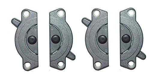 Gedotec Meubelverbinders, metalen tafelbladverbinder, set voor het vastschroeven TACO K4, werkbladenverbinder, gegalvaniseerd staal, spansluiting om te schroeven, 2 sets, tafelverbinders, tweedelig voor meubels