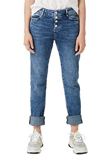 s.Oliver Damen 04.899.71.5367 Straight Jeans, Blu (Blue Denim Stretch 53z7), 42W / 32L