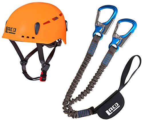 LACD Klettersteigset Pro Evo 2.0 + Helm Protector 2.0 neon orange