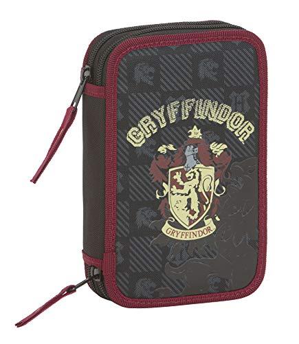Harry Potter Gryffindor Plumier Doble, Estuche con 28 Piezas