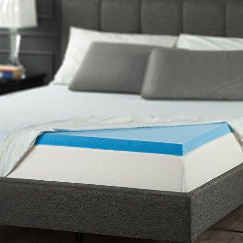 Zinus 2 Inch Gel Memory Foam Mattress Topper, Queen