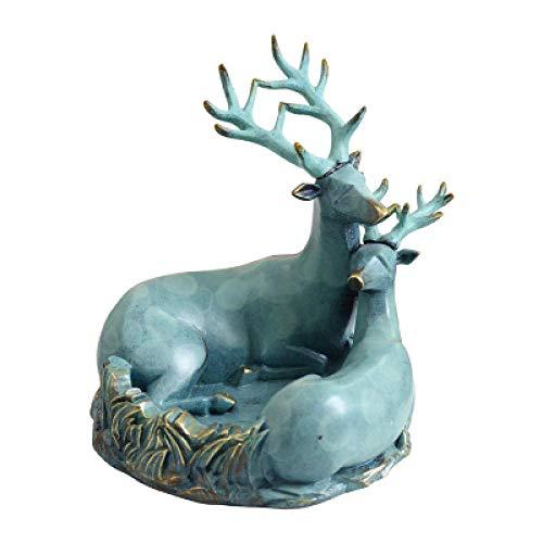 Coolshopy Decoraciones del Arte del Arte Creatividad Animales Personalidad cenicero Ciervos Bandeja de Clave de Almacenamiento Porche