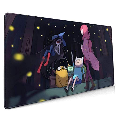 Adventure Time Office,Study,Desk Mat,Shopping,Gaming Mouse Pad,Stitched Edges,Oversized Non-Slip Rubber,Extended Game Racing Mouse Pad 40 X 90 cm (15.8x35.5 Inches)
