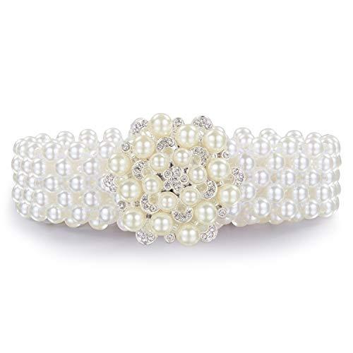 Dubulle riemen voor vrouwen strass kristal Sash bruiloft parel riem jurk sexy meisjes taille keten 105CM Bling heerlijk cadeau