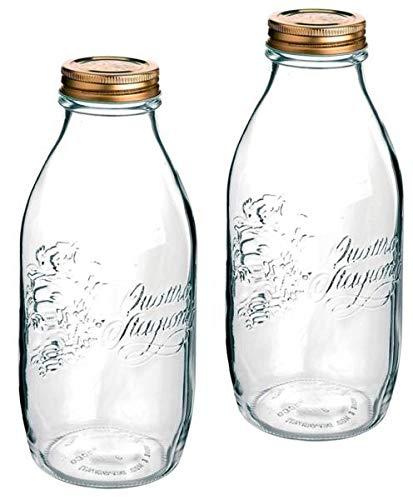 2 botellas de cristal Quattro Stagionie de 1 l.