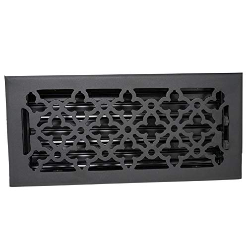 Madelyn Carter Gothic Floor - Wall Registers (Cast Aluminum) 6' x 14' (Overall Size: 7-1/2' x 15-1/2')
