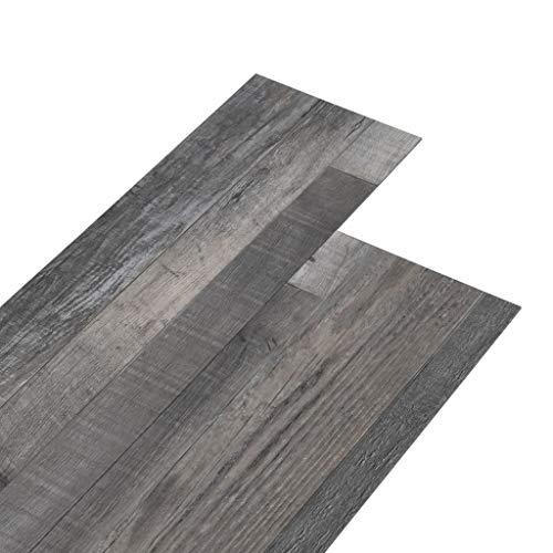 vidaXL PVC Laminat Dielen Rutschfest Vinylboden Vinyl Boden Planken Bodenbelag Fußboden Designboden Dielenboden 5,26m² 2mm Industrielle Holzoptik