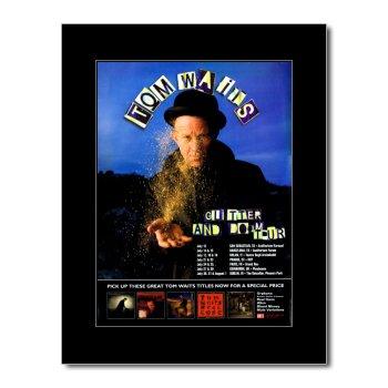 """Music Ad World Tom Waits Mini-Poster, Motiv Glitter and Doom Tour 2008\"""", matt, 28,5 x 21 cm"""