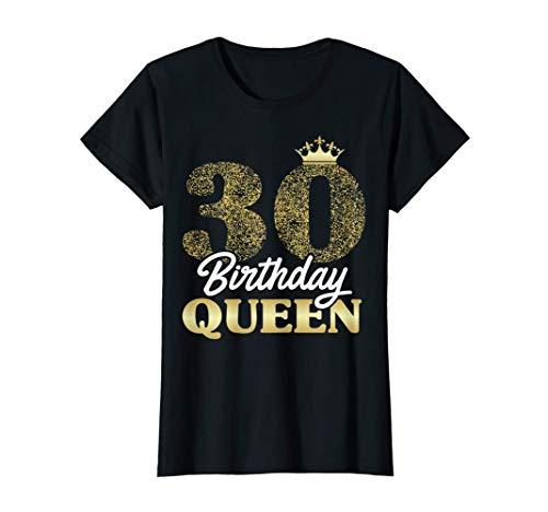 Damen Geschenk zum 30. Geburtstag 1991 süßes Birthday Queen Krone T-Shirt