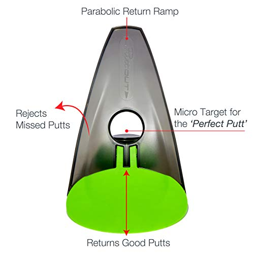 PuttOut Pressure Putt Trainer - Perfect Your Golf Putting (Green)