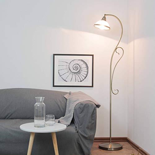 Edle Stehleuchte im Jugendstil in bronze E27 Fassung Stehlampe für Wohnzimmer