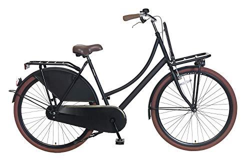 Popal Carrier Cityräder Damen 28 Zoll 57 cm Frau Felgenbremse Schwarz