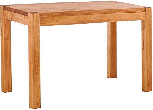 Brasilmöbel Esstisch Rio Kanto 100x73 cm Honig Pinie Massivholz Größe und Farbe wählbar Esszimmertisch Küchentisch Holztisch Echtholz vorgerichtet für Ansteckplatten Tisch ausziehbar