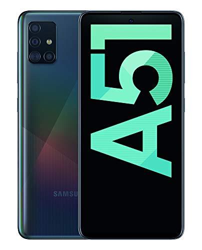 "Samsung Galaxy A51 - Dual SIM, Smartphone de 6.5"" Super AMOLED (4 GB RAM, 128 GB ROM, cámara Trasera 48.0 MP + 12.0 MP + 5.0 MP + 5 MP, cámara Frontal 32 MP) Negro [Versión española]"