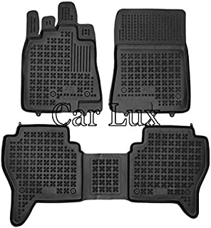 Car Lux AR04884 - Alfombras Alfombrillas de goma tipo cubeta 3D a medida para Montero